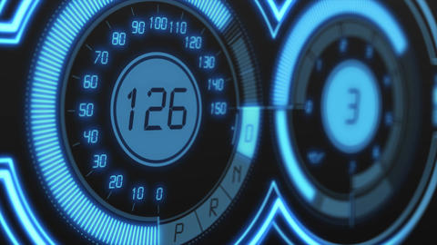 Blue hud speedometer Animation