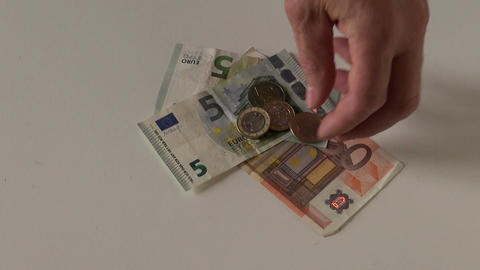 euro money and game dice Footage