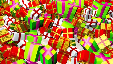 HD Loopable Background with nice gift boxes Animation