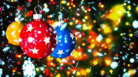 HD Loopable Background with nice christmas balls CG動画素材