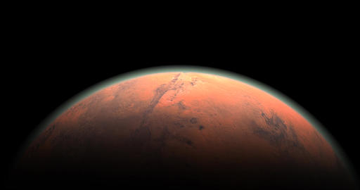 A look at the Mars orbit CG動画素材