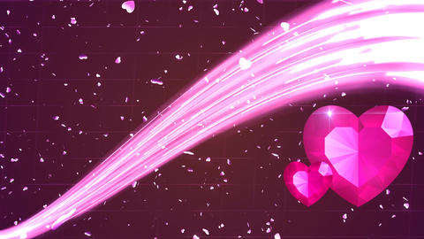 HD Loopable Background with nice pink hearts Animation