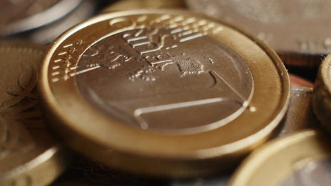 Euro coins super close-up Image