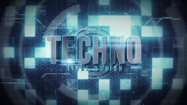 Techno title After Effects Template