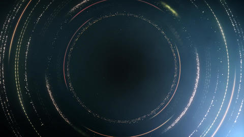 Golden Circles Overlay 01 Animation