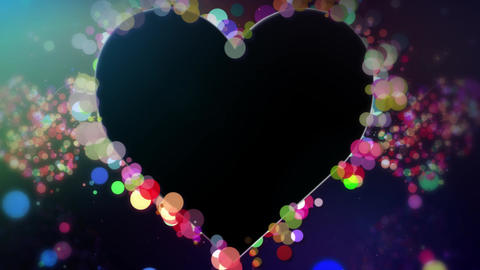 Heart Particle Animated Overlay Animation