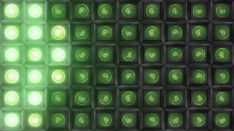 VJ Lights Green 01 Animation