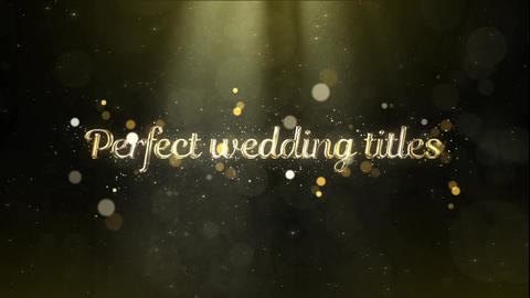 Elegant wedding opener titles After Effectsテンプレート