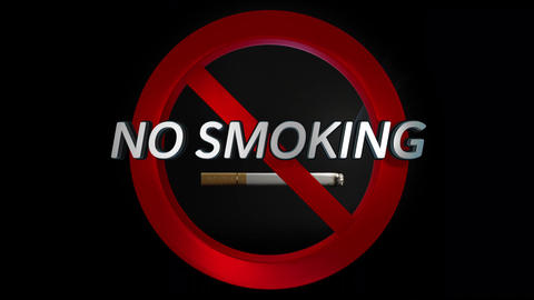 No Smoking Cigarettes Sign Video / Animation Animation