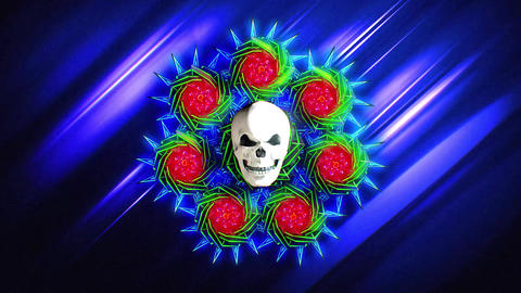Skull VJ LOOP Animation