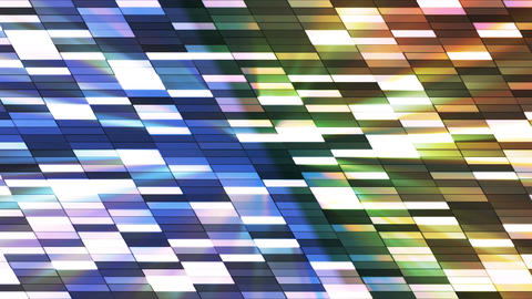Twinkling Horizontal Slant Hi-Tech Small Bars, Multi Color, Abstract, Loopable, Animation