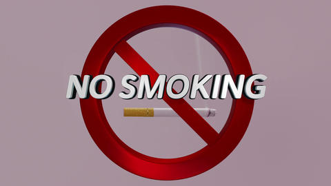 No Smoking Cigarettes Sign Video / Animation (Light Version) Animation