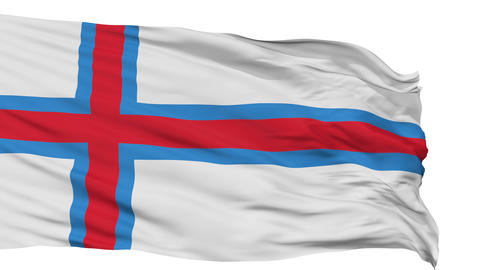 Isolated Waving National Flag of Faroe Islands Animation