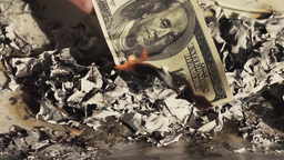 Burning Money (Debt, Taxes, Financial Cliff, Overspending) Footage