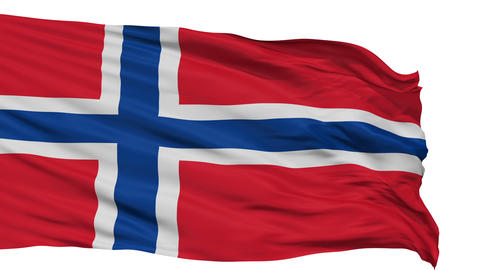 Isolated Waving National Flag of Norway Animation