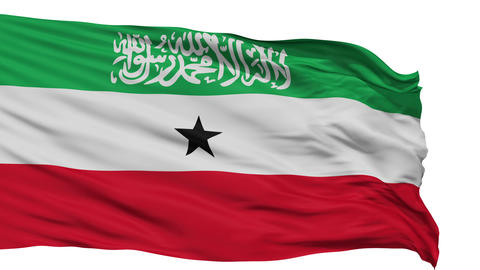 Isolated Waving National Flag of Somaliland Animation