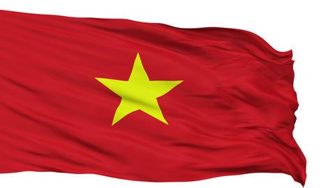Isolated Waving National Flag of Vietnam Animation