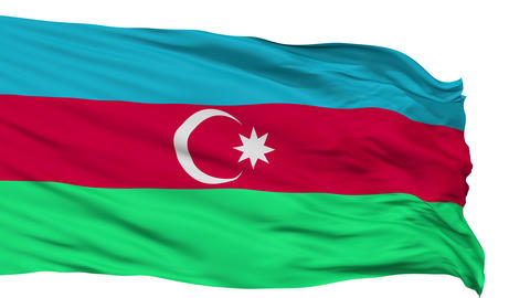 Isolated Waving National Flag of Azerbaijan Animation