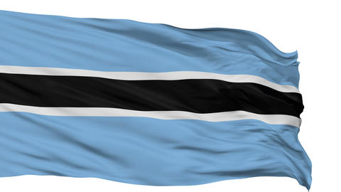 Isolated Waving National Flag of Botswana Animation