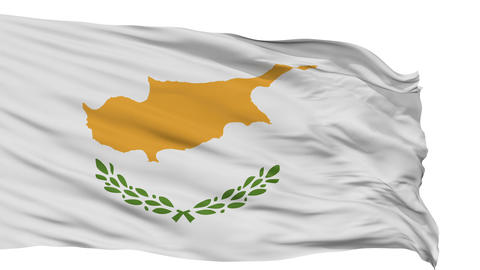 Isolated Waving National Flag of Cyprus Animation