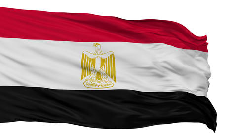 Isolated Waving National Flag of Egypt Animation