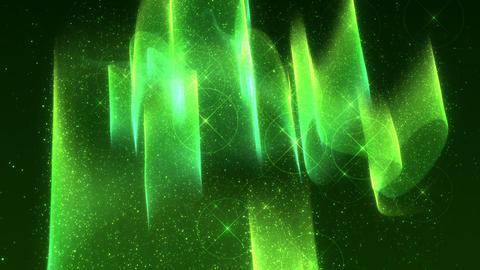 SHA Green Aurora Image Effects Animation
