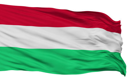 Isolated Waving National Flag of Hungary Animation