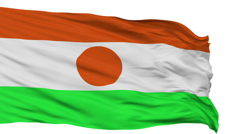 Isolated Waving National Flag of Niger Animation
