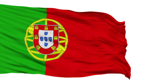 Isolated Waving National Flag of Portuguese Animation