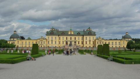 drottningholm palace, stockholm, sweden, timelapse, zoom in, 4k Footage