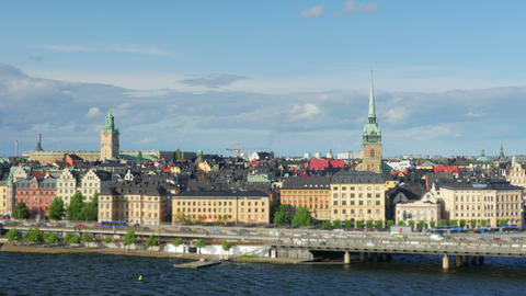 Stockholm view, sweden, timelapse, zoom in, 4k Footage