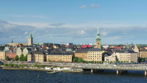 Stockholm view, sweden, timelapse, 4k Footage