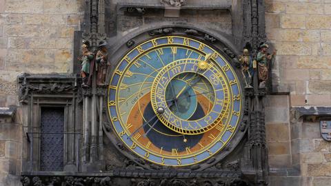 astronomical clock, prague, czech republic, timelapse, 4k Footage