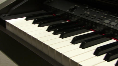 Electronic piano Keyboard Footage