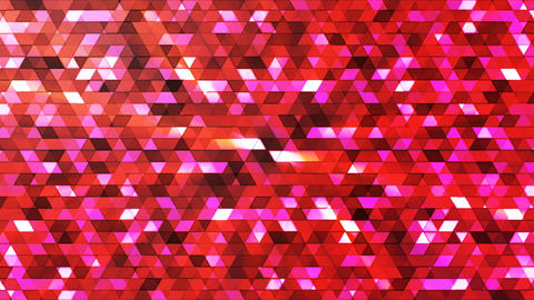 Broadcast Twinkling Polygon Hi-Tech Triangles, Maroon, Abstract, Loopable, 4K Animation