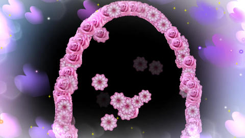 WEDDING FLORAL ARCH PINK Animation