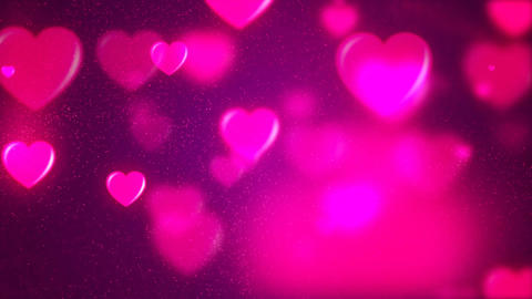 HD Loopable Background with nice purple flying hearts Animation