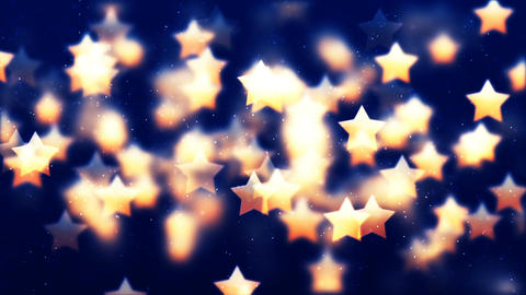 HD Loopable Background with nice flying golden stars CG動画素材