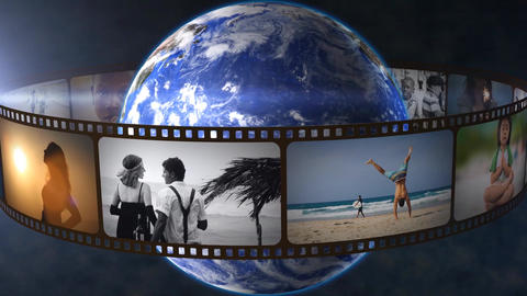 Planet And Film 360 Loop After Effects Template
