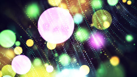 HD Loopable Background with nice abstract multicolor bokeh Animation