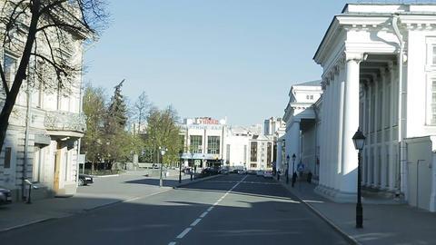 Slow Motion Camera Moves along Street by Kazan State University Footage