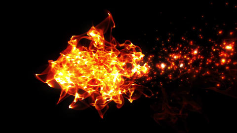 fire & particle line, abstract image, red CG動画素材
