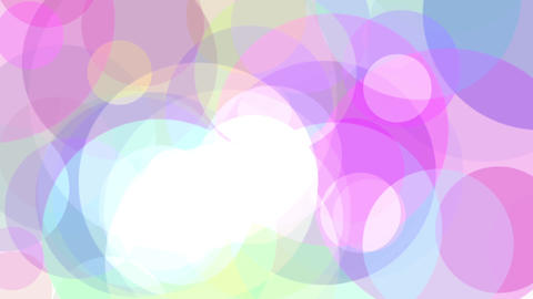color circles floating, loop 2 CG動画素材