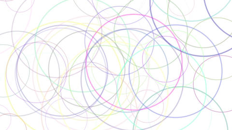 color circles floating, loop 1 CG動画素材