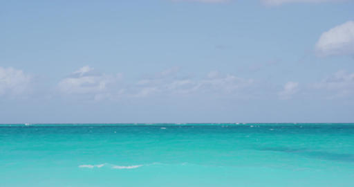 Beach background - perfect Caribbean blue water and clear sky Live Action
