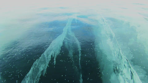 Baikal Ice Surface Footage