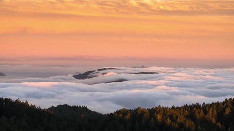 云海延时日落 The sea of clouds Time-lapse photography The sunset Filmmaterial