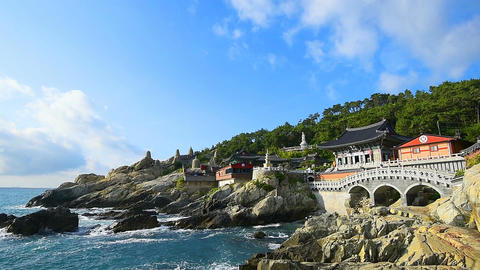 Haedong Yonggungsa Temple in Busan , South Korea ภาพวิดีโอ
