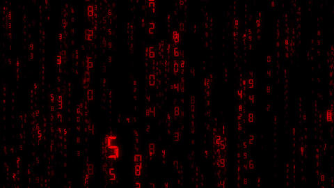 digital number, computer, loop, red Animation