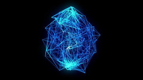 wireframe loop, blue CG動画素材